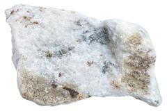Carbonatite stone isolated on white background Stock Photos