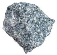Diorite stone isolated on white Stock Photos