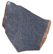 Glassy basalt ( Hyalobasalt) mstone isolated Stock Photos