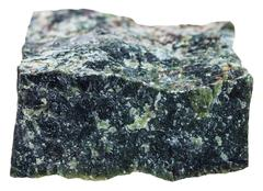 Natural Dunite (olivinite) mineral isolated Stock Photos