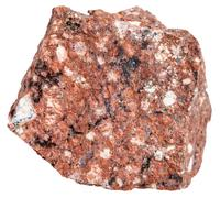 Red Dacite mineral isolated on white Stock Photos