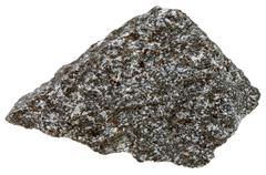 Nepheline syenite mineral isolated on white Stock Photos