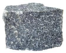 Andesite stone isolated on white background Stock Photos