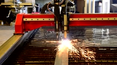 Warehouse Shop Factory INSIDE Machine cutting 1 Stock Footage