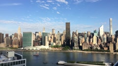 Timelapse Video- Boat Planes and Clounds Passing by Empire State Building-Uni Stock Footage