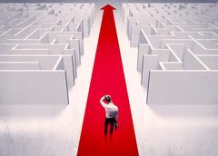 Smart businessman avoiding maze concept Stock Photos