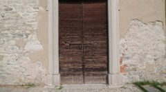 Ancient   religion  building  old door Stock Footage