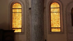 In italy    inside  church religion      building Stock Footage