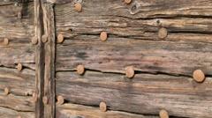 Old door  close up Stock Footage