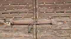 Old door  close up Stock Footage