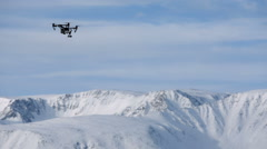 Aerial shooting in the mountains Stock Footage