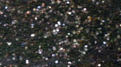 Coins in the pond bottom. Stock Footage