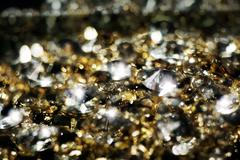 Diamonds and Gold Blurred Stock Photos
