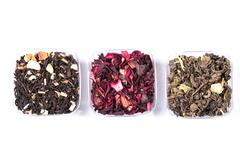 Assortment of dry tea. healthy food concept Stock Photos