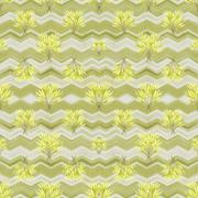 Nature Geometric Collage Seamless Pattern Stock Illustration