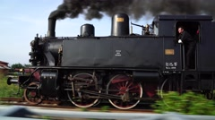 Old steam train Stock Footage