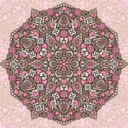 Abstract Flower Mandala. Decorative ethnic element for design Stock Illustration