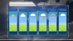 Forecast - motion graphics - weather template - Cloud Background Stock Footage