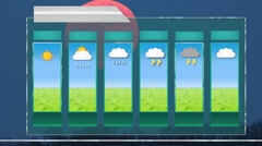 Forecast - motion graphics - weather template - Red Moon Background Stock Footage