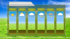 Forecast - motion graphics - weather template - Grass Background Stock Footage