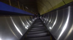 Timelapse of electric staircase Stock Footage