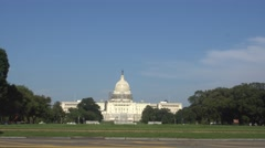 Washington - Monument - Capitolium with men walking  Stock Footage