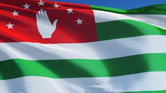 Abkhazia flag, close up, isolated with clipping path alpha channel Stock Photos