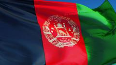 Afghanistan flag, close up, isolated with clipping path alpha channel Kuvituskuvat