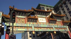 Washington - China Town - Chinese Monument  Stock Footage