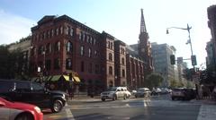 Washington - Street view - Busy Corner  Stock Footage