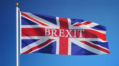 Great Britain Brexit flag, close up, isolated with clipping path alpha channe Stock Photos