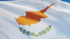 Cyprus flag, close up, isolated with clipping path alpha channel Stock Photos