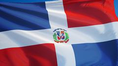 Dominican Republic flag, close up, isolated with clipping path alpha channel Kuvituskuvat