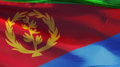Eritrea flag, close up, isolated with clipping path alpha channel Stock Photos