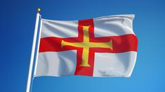 Guernsey flag, close up, isolated with clipping path alpha channel Stock Photos