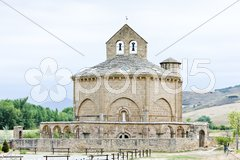 Church of Saint Mary of Eunate, Road to Santiago de Compostela, Navarre, Spain Stock Photos