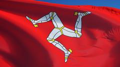 Isle of Man flag, close up, isolated with clipping path alpha channel Stock Photos