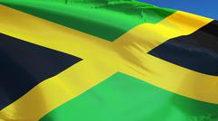Jamaica flag, close up, isolated with clipping path alpha channel Kuvituskuvat