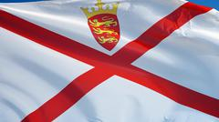 Jersey flag, close up, isolated with clipping path alpha channel Stock Photos