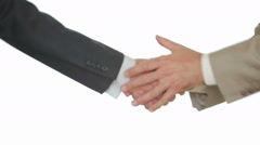 Client withdraws his hand from the manager. businessman grabbed the man's hand Stock Footage