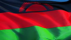 Malawi flag, close up, isolated with clipping path alpha channel Stock Photos