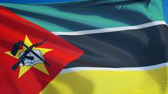 Mozambique flag, close up, isolated with clipping path alpha channel Stock Photos