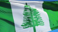 Norfolk Island flag, close up, isolated with clipping path alpha channel Stock Photos