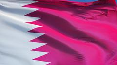Qatar flag, close up, isolated with clipping path alpha channel Kuvituskuvat