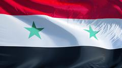 Syria flag, close up, isolated with clipping path alpha channel Kuvituskuvat