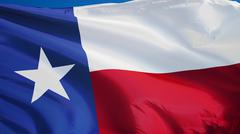 Texas flag, close up, isolated with clipping path alpha channel Kuvituskuvat