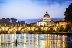 Saint Peter's Basilica and square in Vatican City Stock Photos