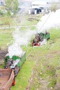 Steam freight trains, Kostolac, Serbia Stock Photos