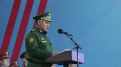 Sergey Kuzhugetovich Shoygu - Minister of Defence of the Russia Stock Footage