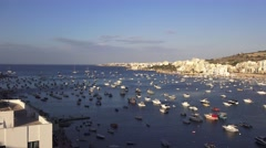 LATE AFTERNOON ST PAULS BAY MALTA TIME LAPSE MALTA Stock Footage